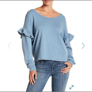 NWT- Lucky Brand Blue Sweatshirt - size - L